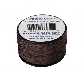 Micro Cord Atwood Rope MFG Brown