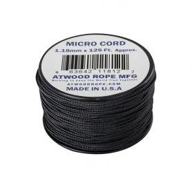 Linka Micro Cord Atwood Rope MFG - 1,18 mm - Szpulka 38mb - Black