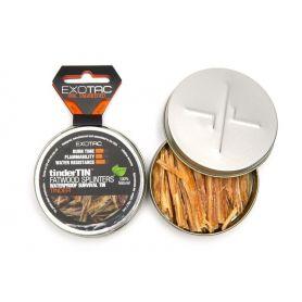 Rozpałka naturalna - Tinder Tin Fatwood Splinters - Exotac