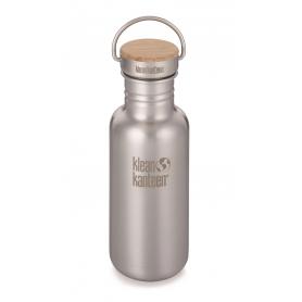 Butelka stalowa Klean Kanteen Reflect Bamboo Cap 532 ml - Brushed Stainless