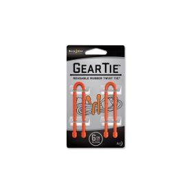 Nite Ize - Elastyczny trok Gear Tie 6'' - 2 Pack - GT6-2PK-31- Pomarańczowy